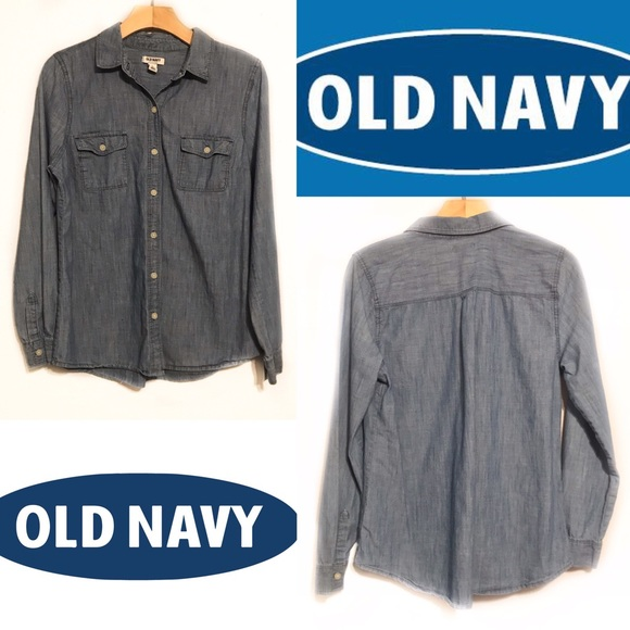 Old Navy Tops - ❇️Old Navy Chambray Denim Jean Shirt